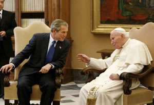 George Bush y el Papa