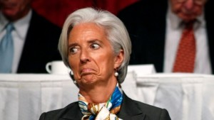 International Monetary Fund (IMF) Managing Director Christine Lagarde attends a meeting with the Economic Club of New York in New York, April 10, 2013. REUTERS/Brendan McDermid (UNITED STATES - Tags: POLITICS BUSINESS HEADSHOT) - RTXYGPL